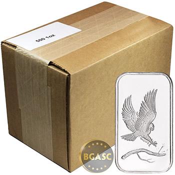 Monster Box of 1 oz SilverTowne Eagle Silver Bars .999 Fine Silver Bullion (500 Bars)