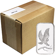 Monster Box of 1 oz SilverTowne Eagle Silver Bars .999 Fine Silver Bullion (500 Bars)