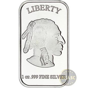 1 oz Silver Bar SilverTowne Buffalo .999 Fine Bullion Ingot - Image