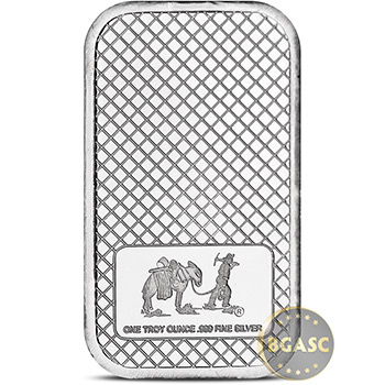 SilverTowne 1 oz  Eagle Trademark Silver Bullion Bar .999 Fine Silver Ingot Bar One Ounce - Image