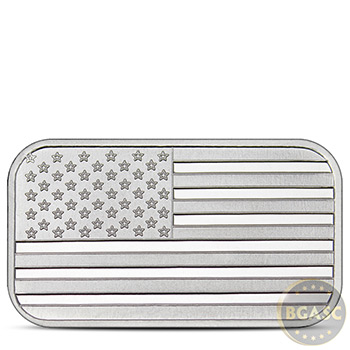 1 oz Silver Bar SilverTowne American Flag .999 Fine Bullion Ingot