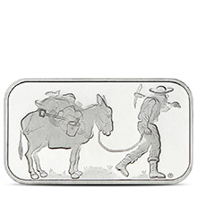 1 oz Silver Bar SilverTowne Retro Prospector .999 Fine Bullion Ingot