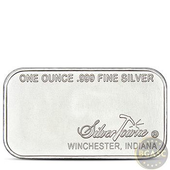 1 oz Silver Bar SilverTowne Retro Prospector .999 Fine Bullion Ingot - Image