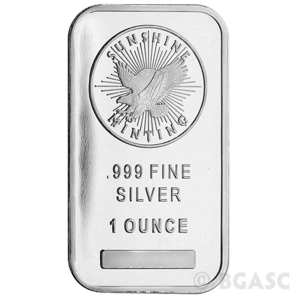 Sunshine Mint 1 Oz Silver Bar Bullion Sealed 999 Fine Ingot One Ounce