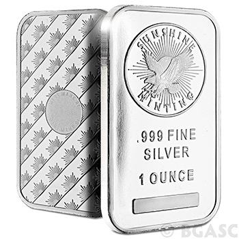 Monster Box of 1 oz Sunshine Minting Silver Bars .999 Fine Bullion with Security Feature - Image