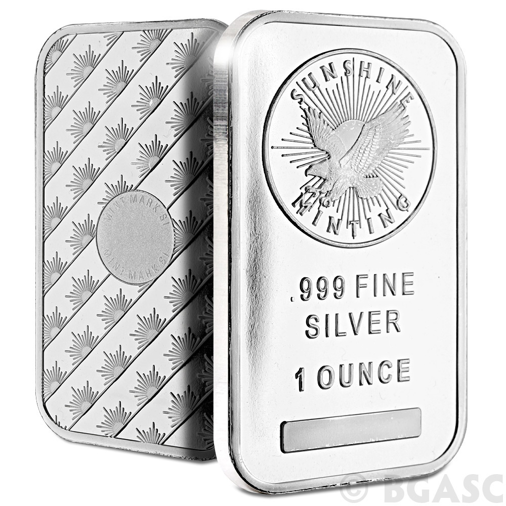 Buy Monster Box of 1 oz Sunshine Minting Silver Bars .999 Fine ...