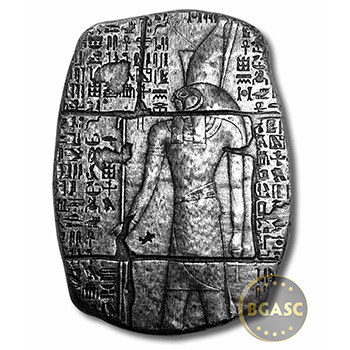 3 oz Silver Relic Bar Monarch Egyptian God Horus .999 Fine Ingot