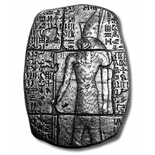 3 oz Silver Relic Bar Monarch Egyptian God Horus .999 Fine Ingot