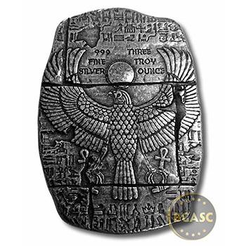 1 oz Silver Relic Bars Monarch Egyptian God Anubis .999 Fine Ingot - Image