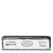 4 oz Silver Bars Yeager's Poured KITKAT .999 Fine Bullion Loaf Ingot