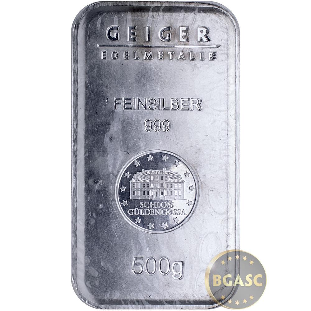 Buy 500 Gram Silver Bars Geiger Security Line 999 Fine