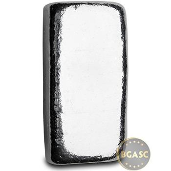 5 oz Silver Bars Monarch Hand Poured .999 Fine Bullion Loaf Ingot - Image
