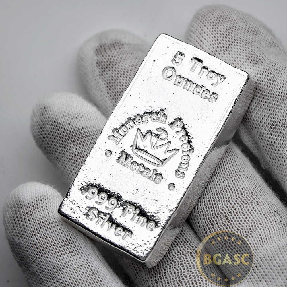 Buy 5 Oz Silver Bars Monarch Hand Poured 999 Fine Bullion