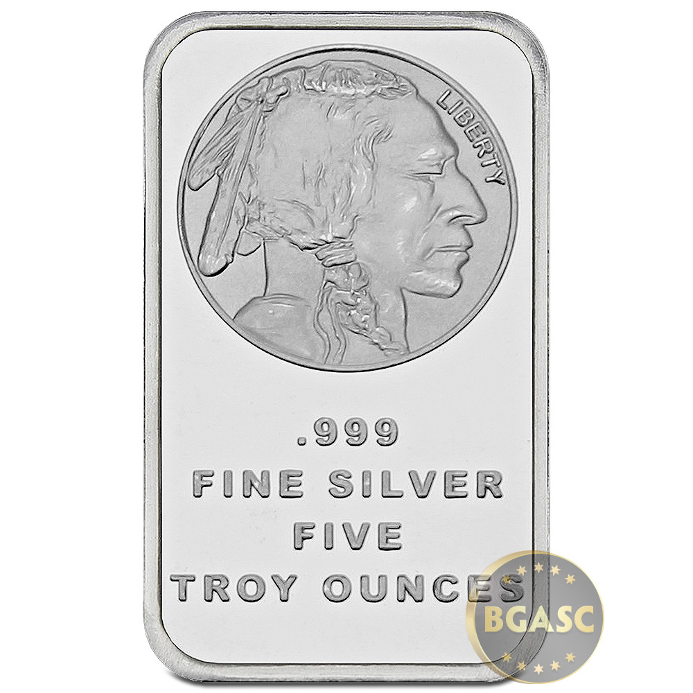 Buy 5 Oz Silver Bars Silvertowne Buffalo Design 999 Fine