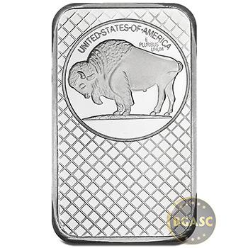 SilverTowne 5 oz Silver Bars Buffalo Design .999 Fine Silver Bullion Ingot Five Ounces - Image