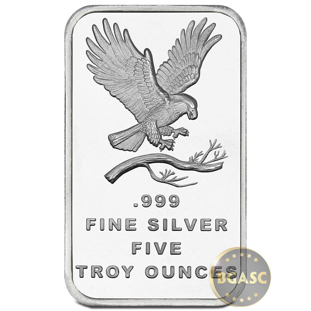 Buy 5 Oz Silver Bars Silvertowne Eagle 999 Fine Bullion