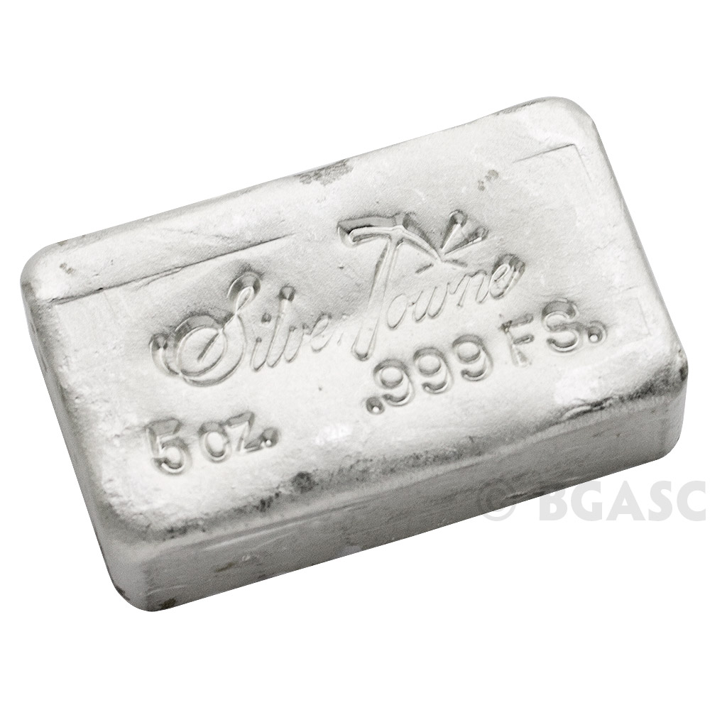 Buy 5 Oz Silver Bars Silvertowne Hand Poured 999 Fine