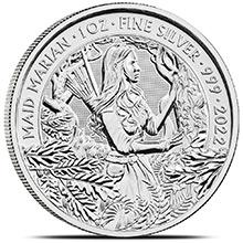2022 1 oz Silver Great Britain Myths & Legends Bullion Coin - Maid Marian