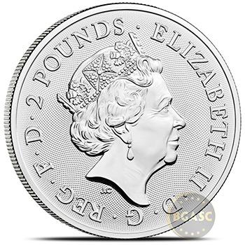 2022 1 oz Silver Great Britain Myths & Legends Bullion Coin - Maid Marian - Image