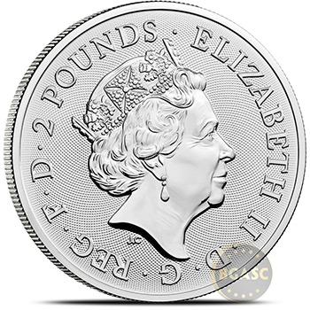 2021 1 oz Silver Great Britain Myths & Legends Bullion Coin - Robin Hood - Image