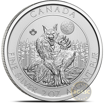 2021 2 oz Silver Canadian Creatures of the North Coin - The Werewolf