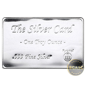 1 oz The Silver Card by Pyromet 5-Pack in Security Case - Image