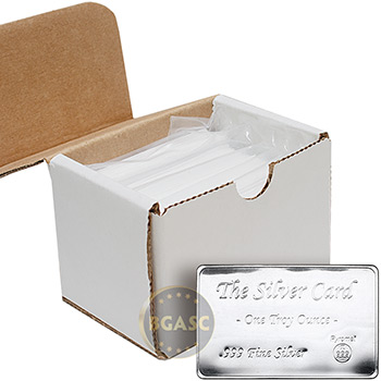 1 oz The Silver Card by Pyromet (50-Pack in Box)