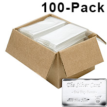 1 oz The Silver Card by Pyromet (100-Pack in Box)