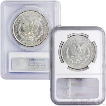 MS63 Graded Morgan Silver Dollars 1878-1904 Silver Coins - Image