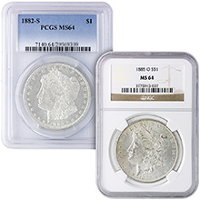 MS64 Graded Morgan Silver Dollar 1878-1904 Silver Coins NGC / PCGS