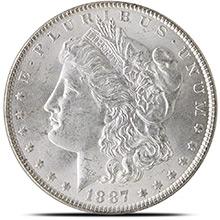 Uncirculated Pre-1921 Morgan Silver Dollars 1878-1904 BU Silver Coins