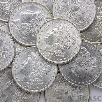 Uncirculated Pre-1921 Morgan Silver Dollars 1878-1904 BU Silver Coins - Image