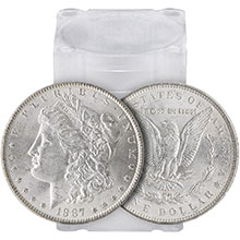 Tube of 20 Uncirculated Pre-1921 Morgan Silver Dollars 1878-1904 Coins BU Roll