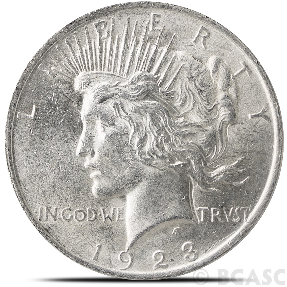 Buy Almost Uncirculated Peace Silver Dollar Coins Peace
