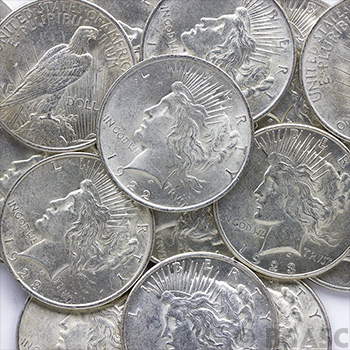 Almost Uncirculated Peace Silver Dollar Silver Coins - Image