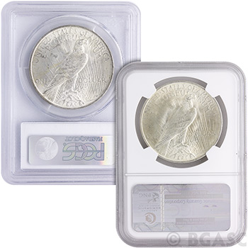MS64 Graded Peace Silver Dollars Silver Coins - Image