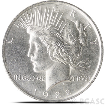 Uncirculated Peace Silver Dollar Coins
