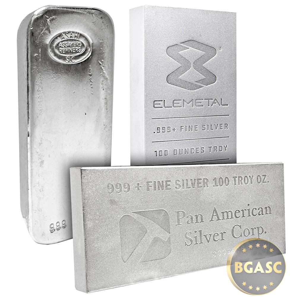 Buy 100 Oz Silver Bars Secondary Market Random Assorted
