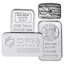 1 oz Silver Bars - Secondary Market (Random Assorted)