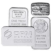 1 oz Silver Bars - Secondary Market (Random Assorted)