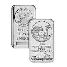 5 oz Silver Bars - Secondary Market (Random Assorted)
