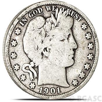 90% Silver Coin Barber Half Dollars $0.50 Face Value