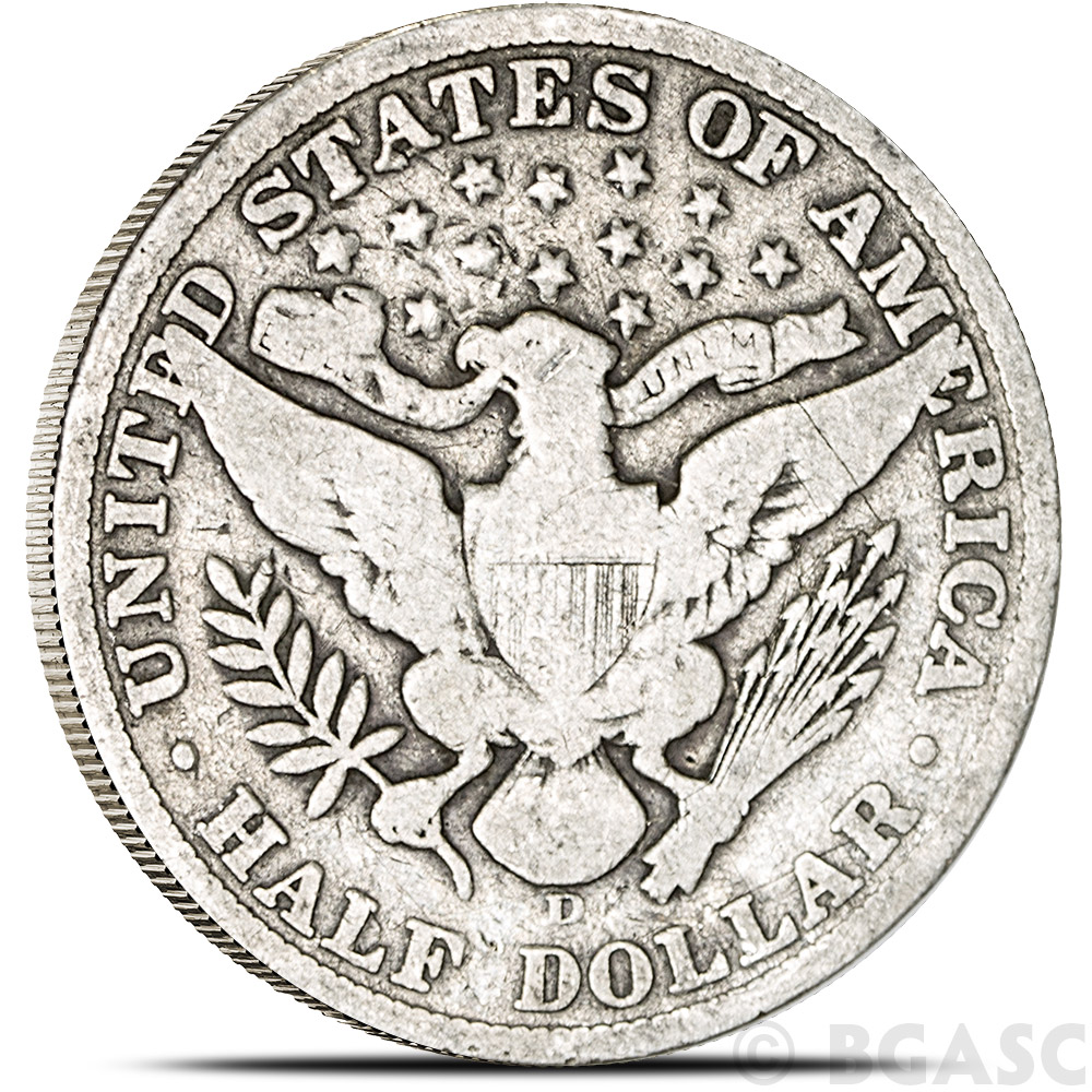 Buy 90 Silver Coin Barber Half Dollars 0 50 Face Value