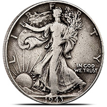 90% Silver Coin Walking Liberty Half Dollars $0.50 Face Value