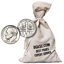 90% Silver Coins $500 Face Value Bag in 90 Percent Junk Silver Dimes