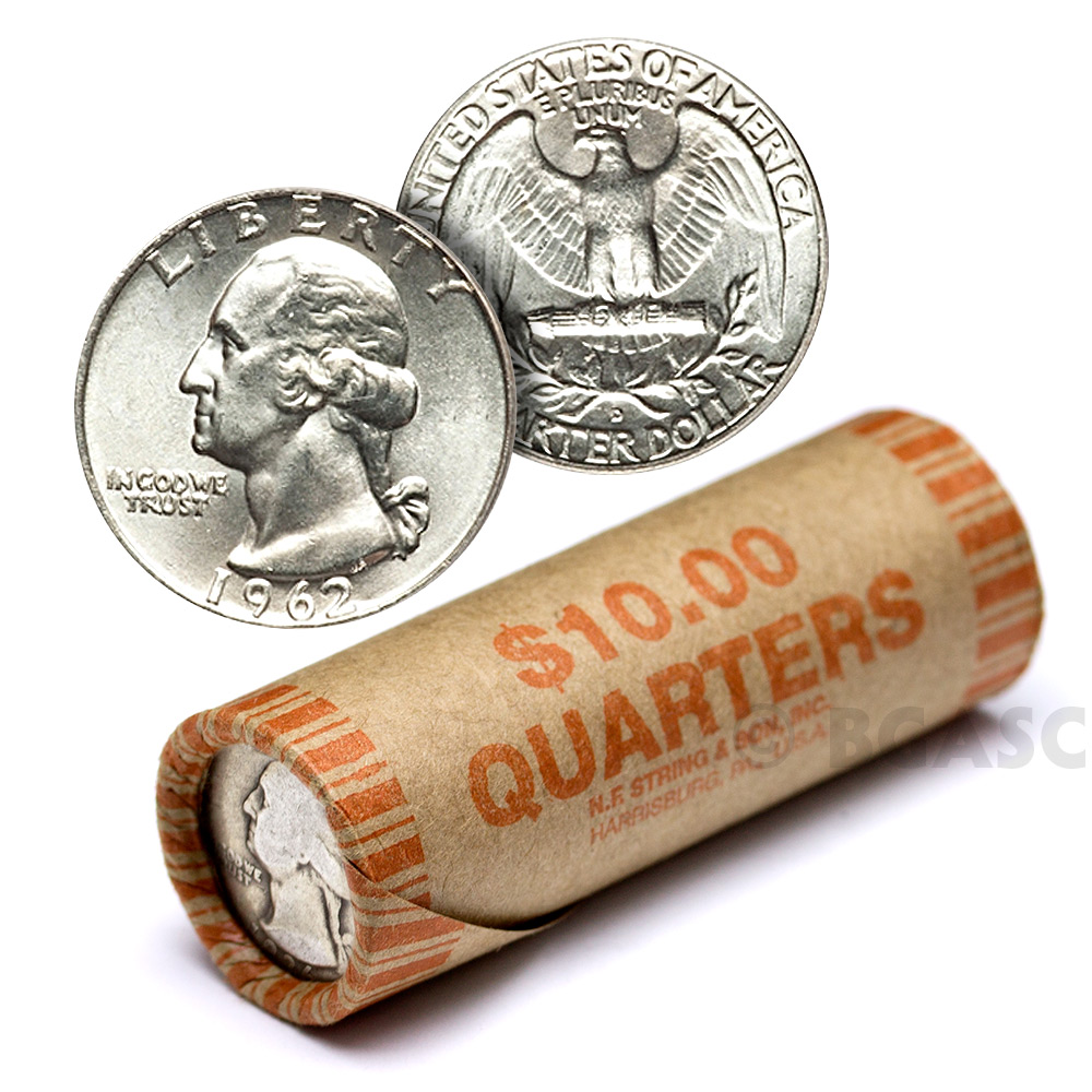 Buy 90 Silver Washington Quarter Roll 40 Coins 90