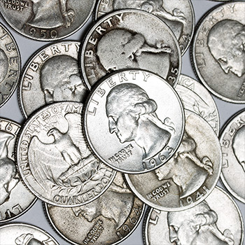90 Percent Washington Quarter Roll - 40 Coins 90 Percent Silver - Image