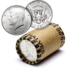90% Silver Kennedy Half Dollar Roll - 20 Coins 90 Percent Silver