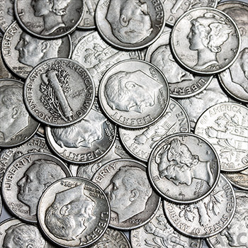 90 Percent Silver Dimes - $1 Face Value in Silver Coins - Image