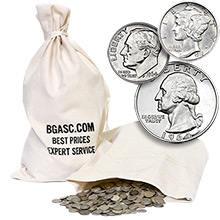 90% Silver Coins $500 Face Value 50/50 Junk Silver Bag (Dimes/Quarters Mix)